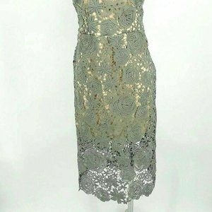 Romeo Juliet Couture Dress Small Dusty Sage Lace B
